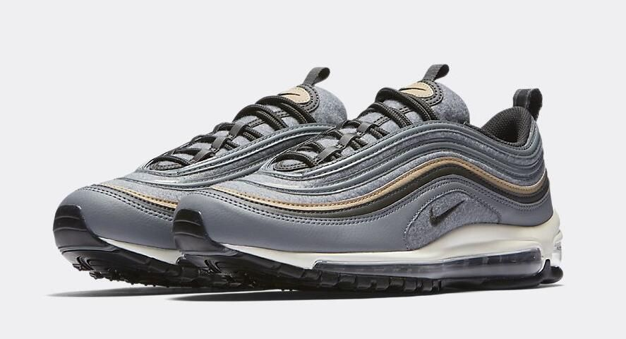 save off 84f18 8d1ff Nike Air Max 97 Premium Size Run  Mens Color  Cool Grey Mushroom-Deep  Pewter-Sail Release Date October 16,2017 Style Code 538416-009 Price  160