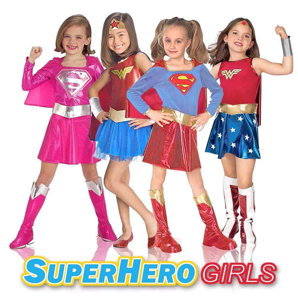 Wonder Woman Supergirl DC Superheros Costume Girl