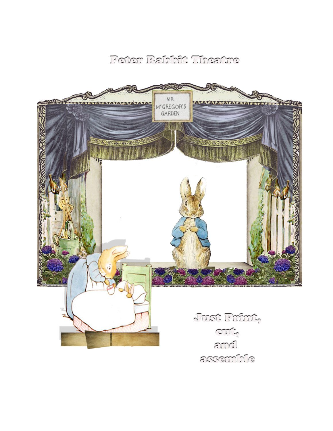 Printable Peter Rabbit Theatre Diy Collage Sheets Fairy