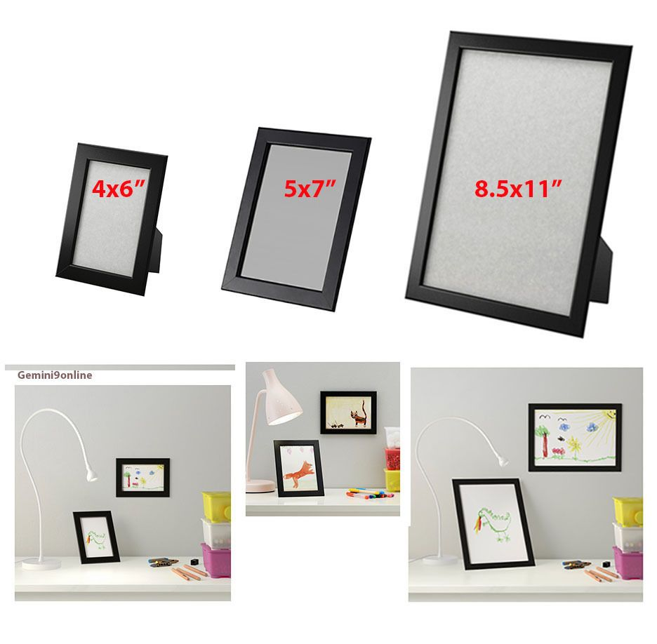 Ikea Picture Frame Fiskbo 1 To 4pk Photo 4x6 5x7 Frames Black New Fs Ikea Picture Frame Picture Frames Ikea Pictures