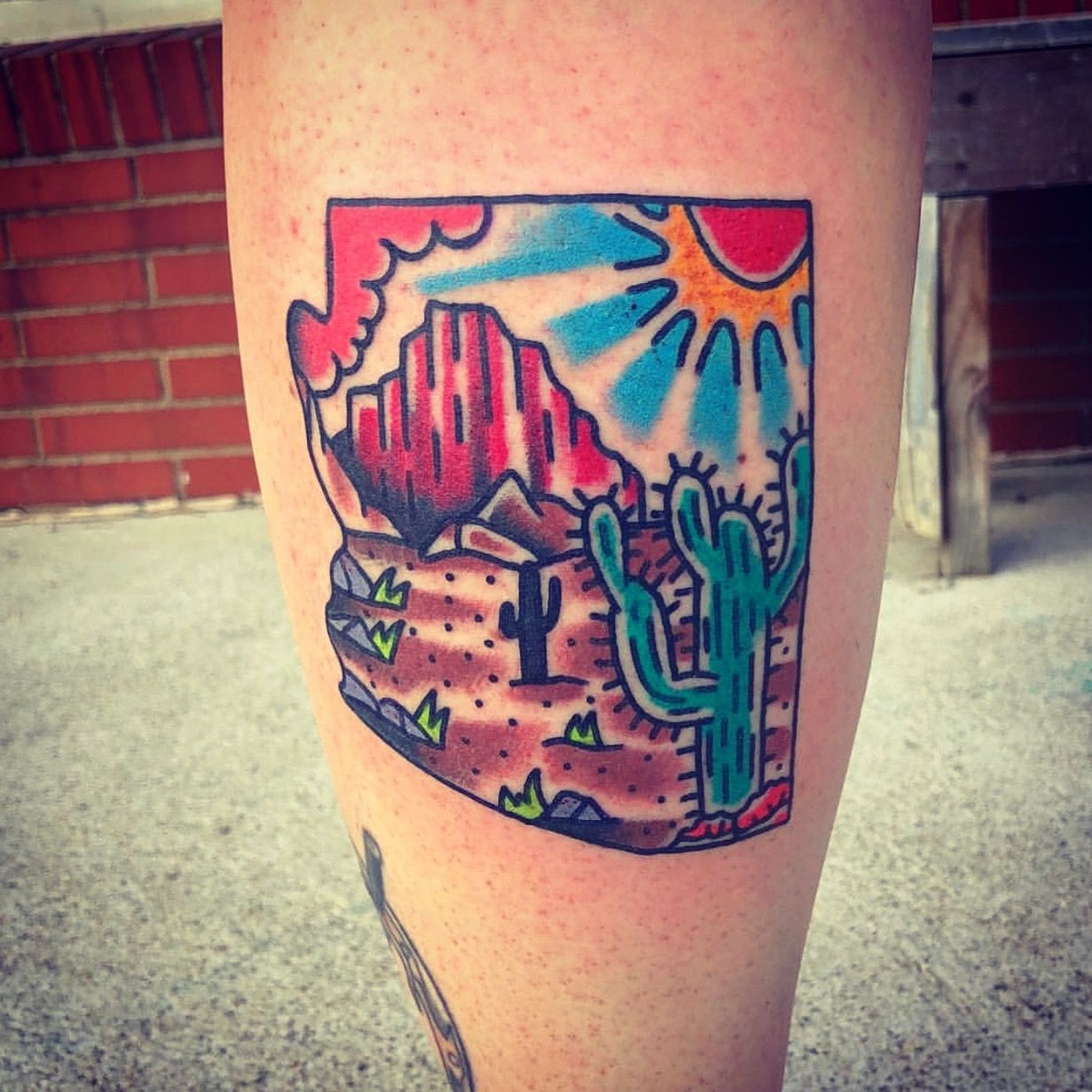 Arizona american traditional tattoo desert tattoo