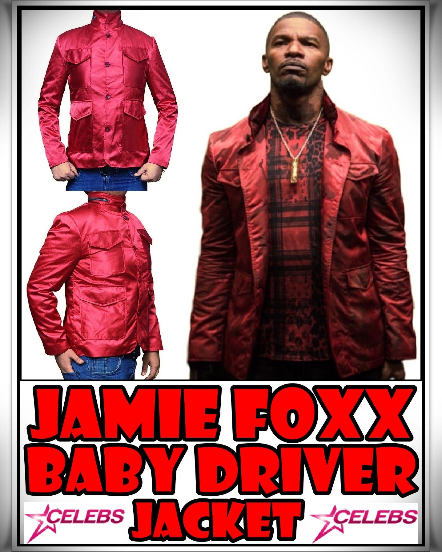4578c65a6 Jamie Foxx Baby Driver Red Jacket   Jamie Foxx Baby Driver Jacket ...