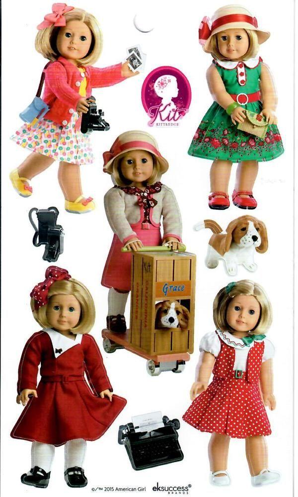 AMERICAN GIRL KIT BEFOREVER STICKERS! MEET~REPORTER~PHOTOGRAPHER~SCHOOL~HOLIDAY    eBay #americangirlhouse