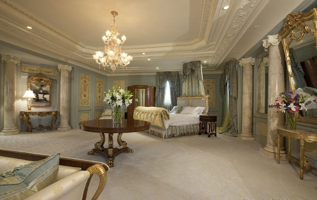 luxury master bedrooms in mansions the master suite is taken out from a real fairytale