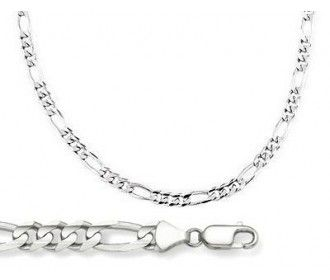 """925 Solid Sterling Silver  16-30/"""" Inch 3.2mm Figaro Link Chain Necklace"""