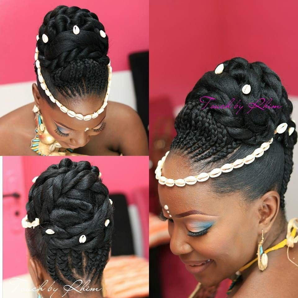 Pin By Fatou Cisse On Coiffure Ceremonie Natural Hair Wedding Black Hair Updo Hairstyles Natural Afro Hairstyles