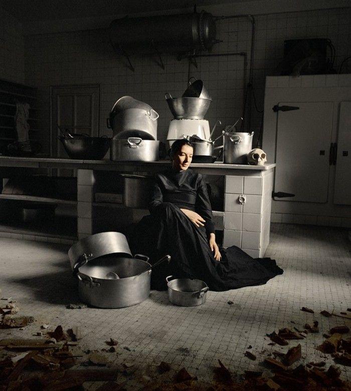 Marina Abramovic 'THE KITCHEN IV'  http://www.dazeddigital.com/artsandculture/gallery/22/5849/2/marina-abramovics-kitchen