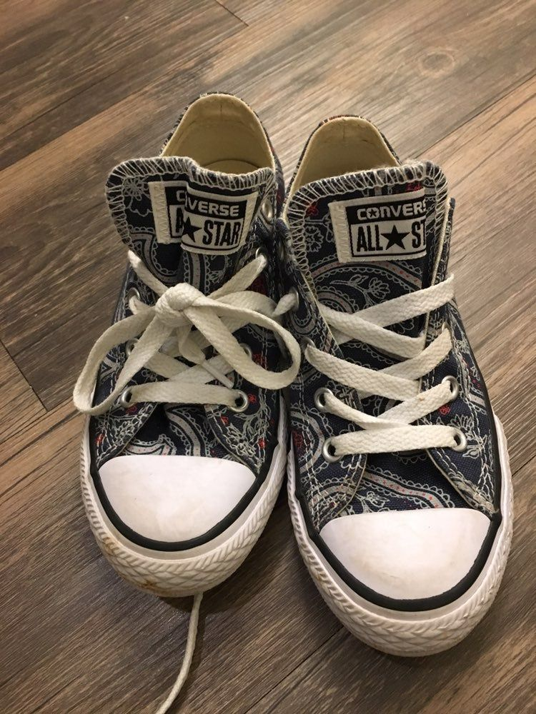 Kids Converse Size 13 Blue/white and