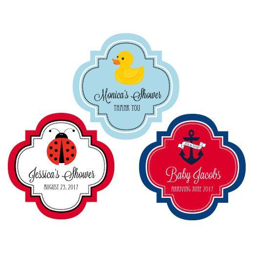 "Personalized Baby Shower 1.5"" Mini Favor Labels"