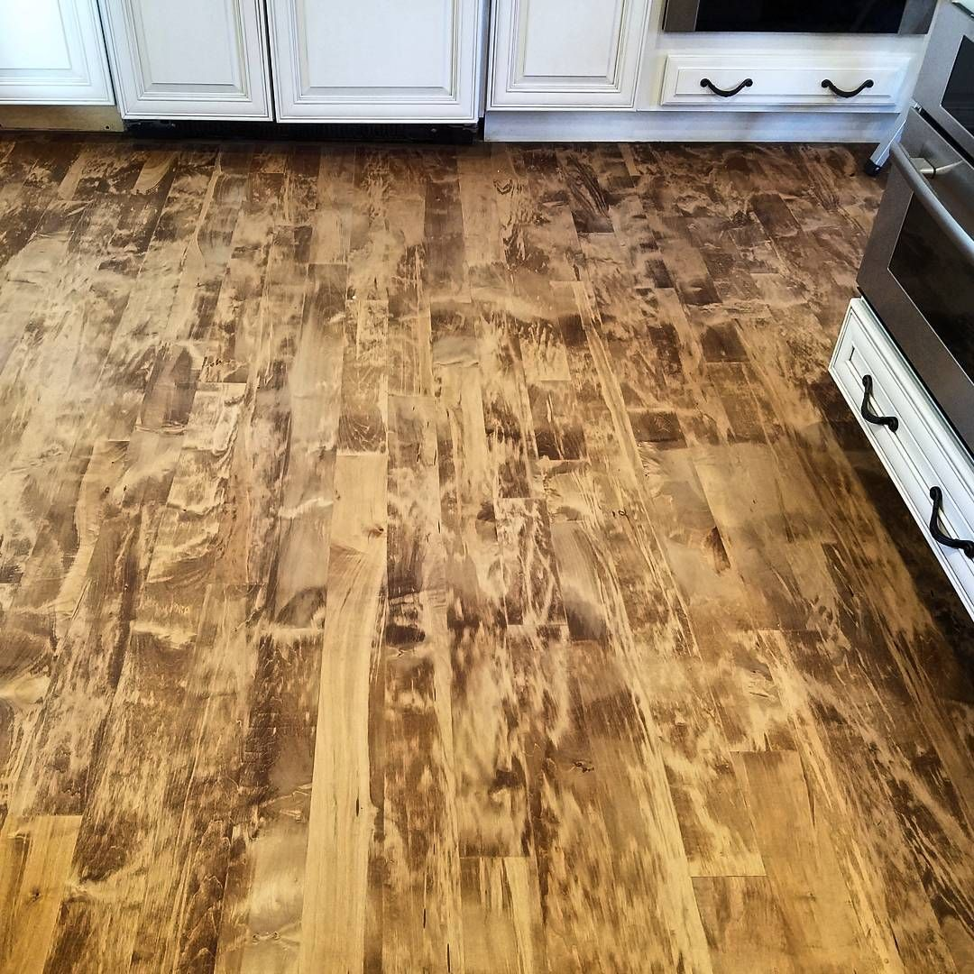 Newly Re Sanded Maple Floor Stained With A Custom Nutmeg Blend