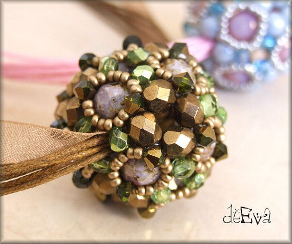 NY 130  Spherule  beaded bead  instructions for by deevadesign, $10.00