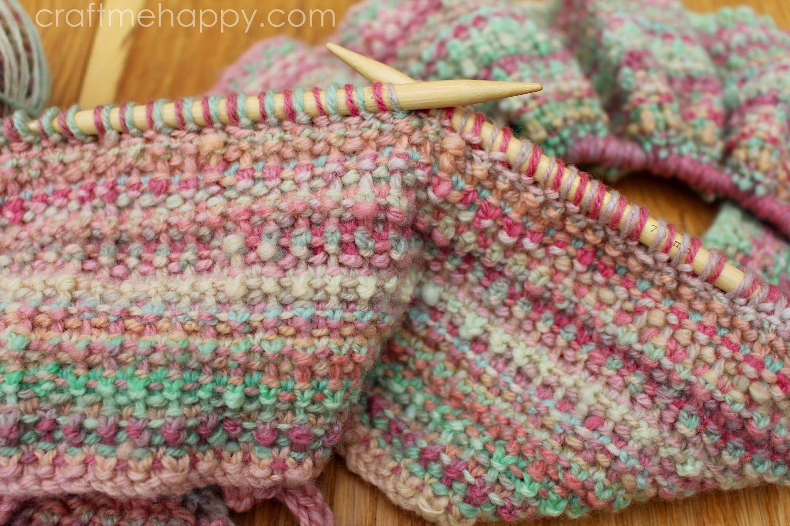 Craft me Happy!: Knitted Bouclé Stitch | Knitting fun | Pinterest ...