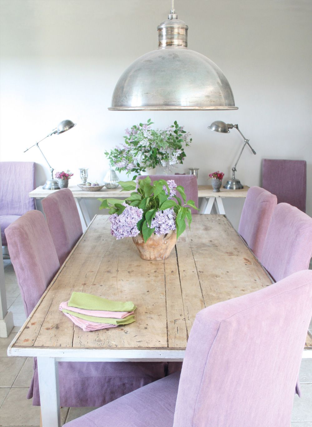 Stonewash Mulberry Is Such A Delicious Purple Wonderful Boho Pick Dining Chair CoversDining ChairsDining RoomsKate