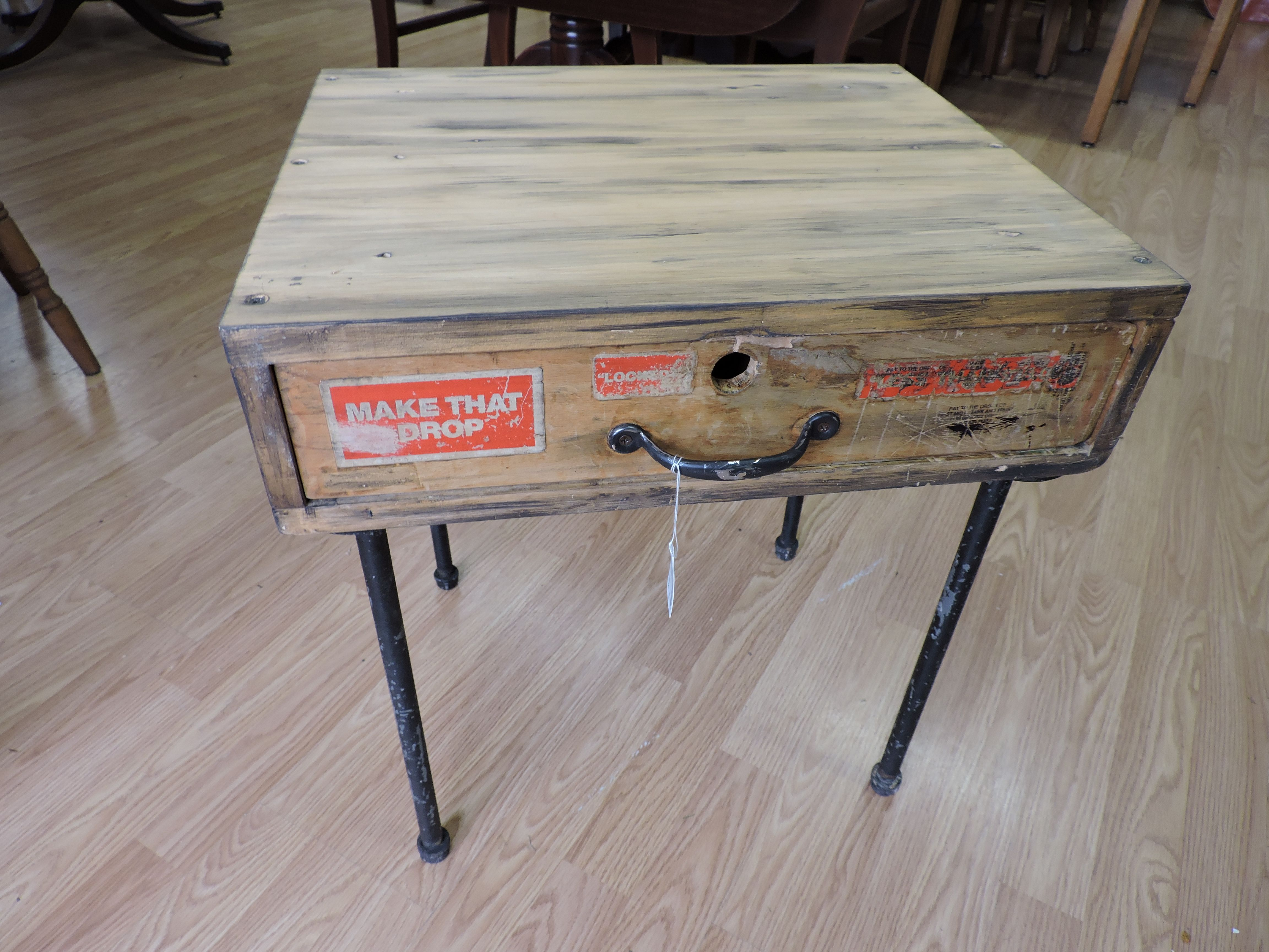 Table Made With Old Cash Drawer Sold
