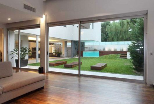 Case Moderne In Vetro.Luxury Home With Modern Swimming Pool Interior View Interior