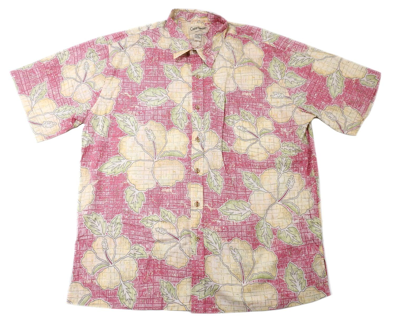 Cooke Street Honolulu Mens 2X-Large Button Down Short Sleeve Shirt, Multi-Color
