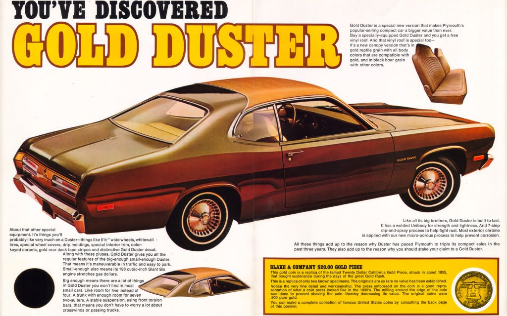 The Inner Pages Advertising The 1973 Plymouth Gold Duster