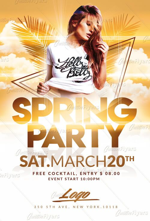 Check Out Spring Party Flyer Templates Creative Flyers Flyer
