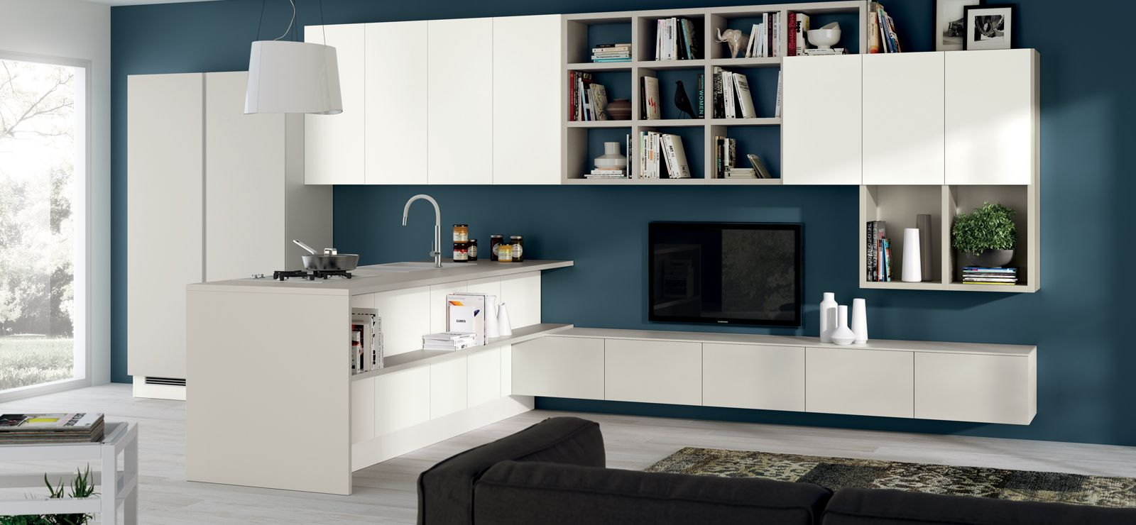 Living Scavolini | Living integrati con cucina | Pinterest ...