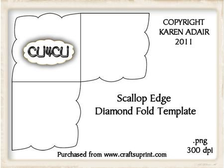 Scallop Edge Pattern Template Templates Printable Free Scalloped Quilt Girly Room