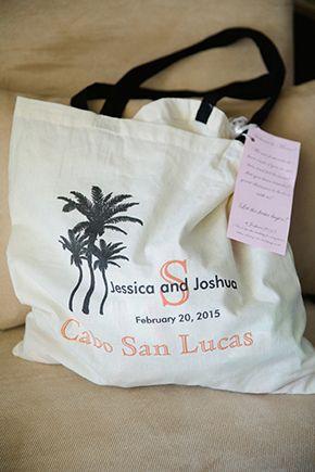 Destination Wedding Gift Bag Ideas Tropical Beach In Cabo San Lucas