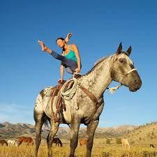 Image result for horseback yoga