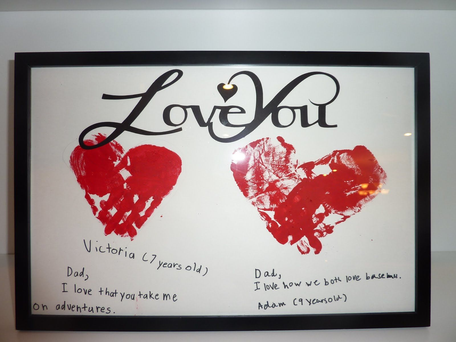 Valentine hand print art The kids will LOVE this and so will