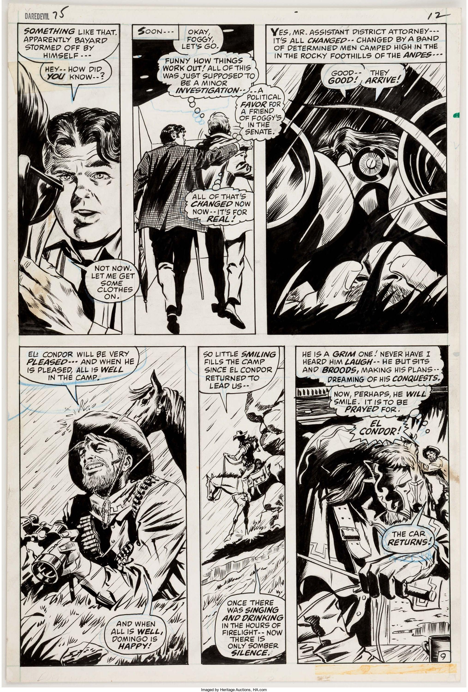 Gene Colan And Syd Shores Daredevil 75 Page 9 Original Lot