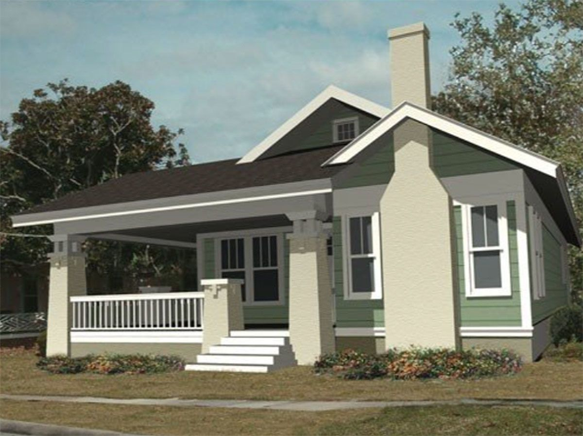 Plan 50156ph Bungalow With Wrap Around Porch Bungalow House Plans Cottage House Plans Facade House