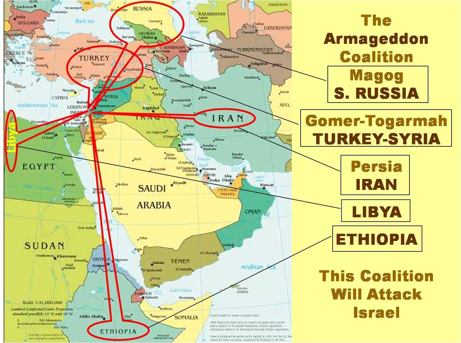 BATTLE OF ARMAGEDDON So Iran Ethiopia Libya And Turkey Will - Where is libya