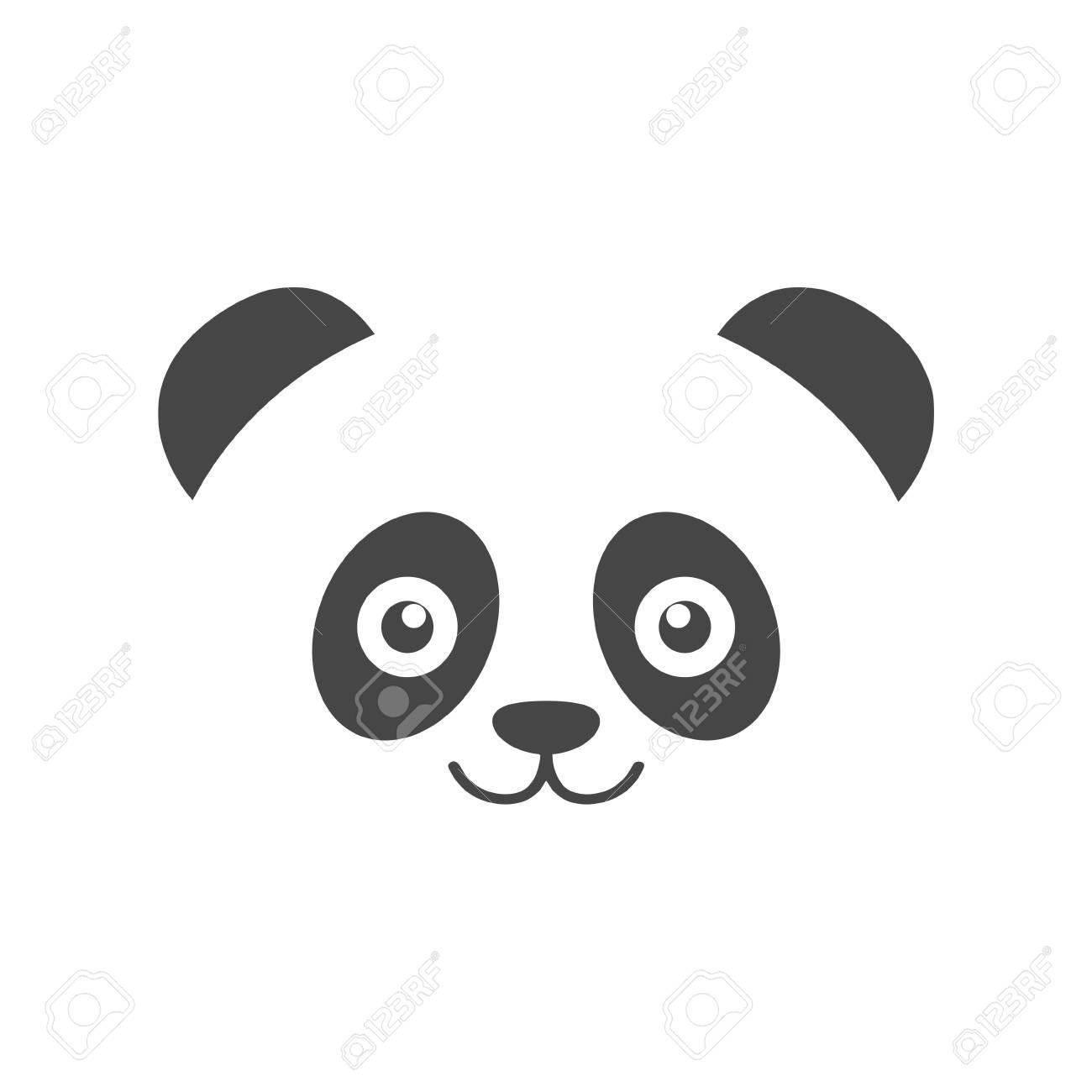 Icone De Tete De Panda Illustration Vectorielle Illustration