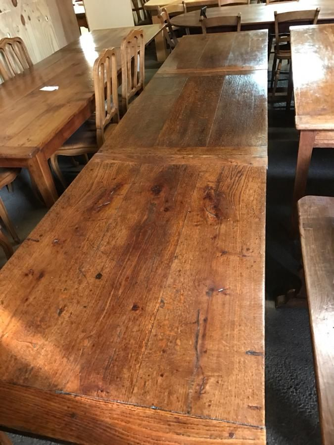 Exceptionally Rare Harvest Table , Two Oak Identical Tables, Long Antique  Oak Table, Large Square Antique Oak Table.   Big Tables   To