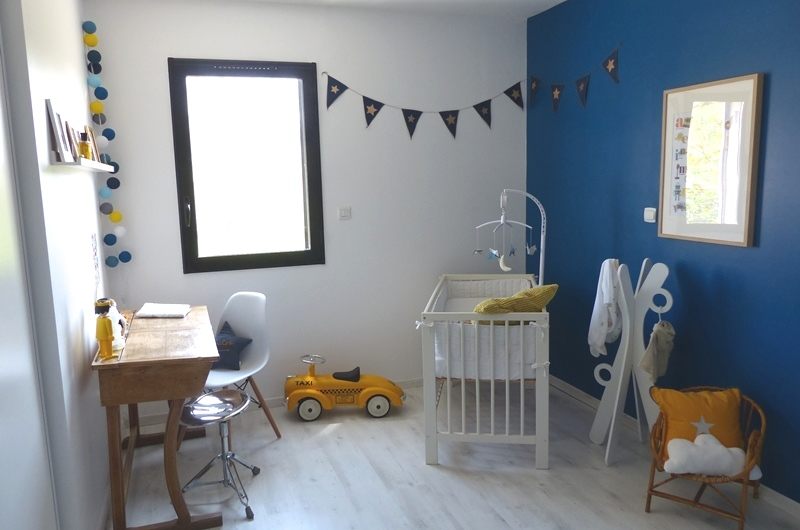 Awesome Chambre Enfant Bleu Contemporary - Yourmentor.info ...