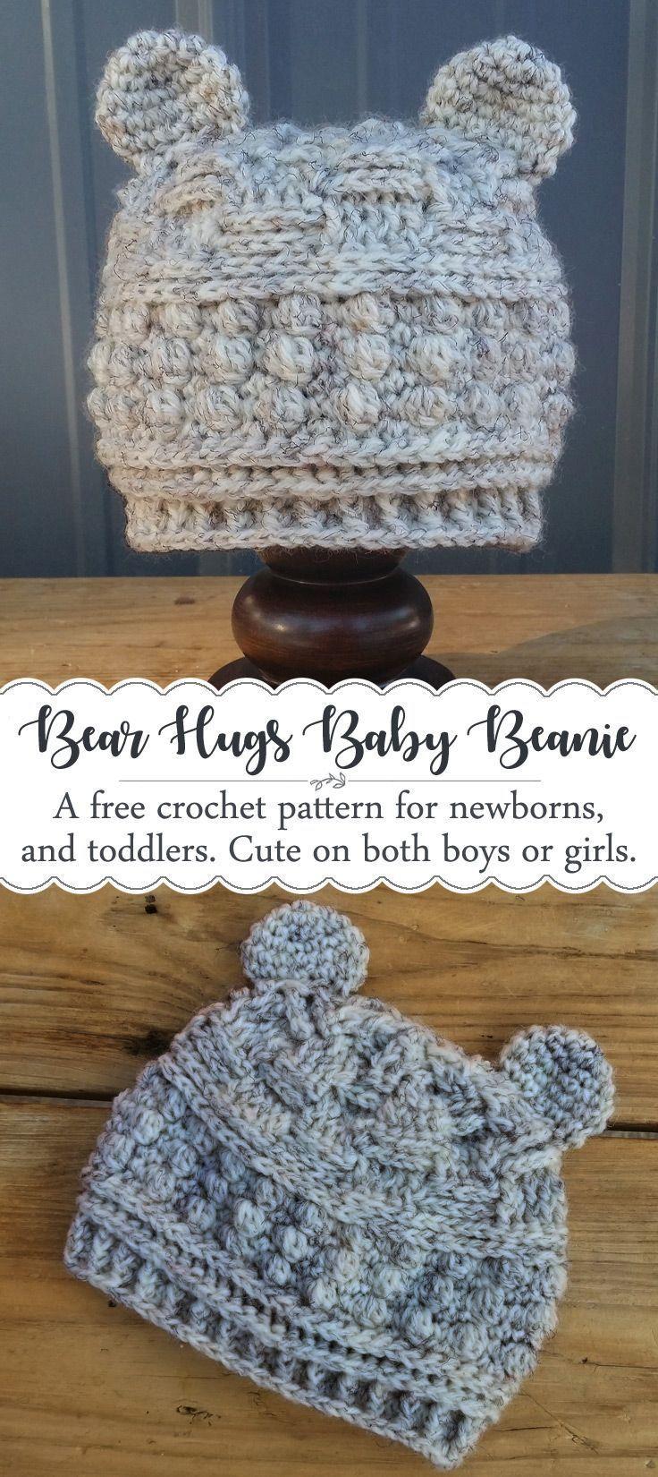 Pattern - Bear Hugs Baby Beanie   Gorros, Tejido y Gorro tejido