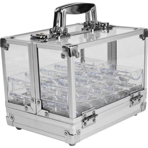 Trademark Poker 600 Pc Clear Acrylic Case with 6 100 Pc Chip Trays by Trademark Global. $39.24. This handy 600 chip carrying case makes it easy to transport chips all over your casino or gaming room, and allows for fast and easy chip access during those crucial gaming moments. Save 37% Off!