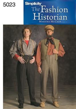 Men's Civil War shirt and trousers  Out Of Print Simplicity 5023 Men's Historical Costume