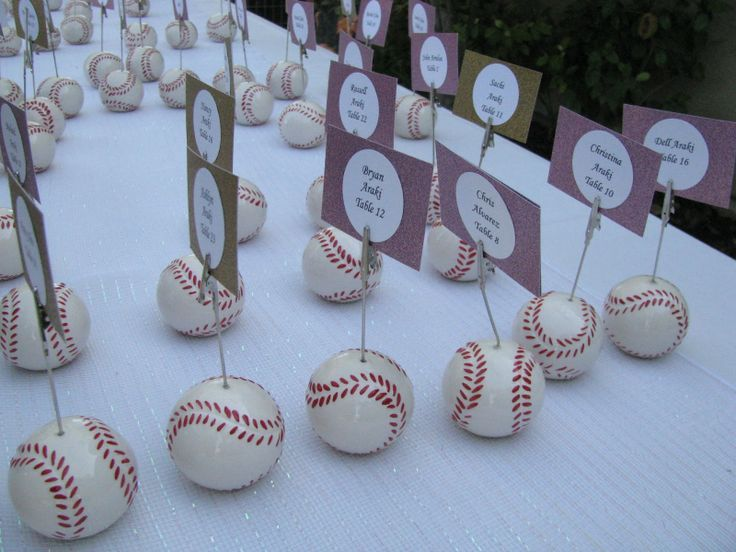 Charming Baseball Themed Decorating Ideas Part - 13: Here Are Some Baseball Wedding Decoration Ideas For You All.