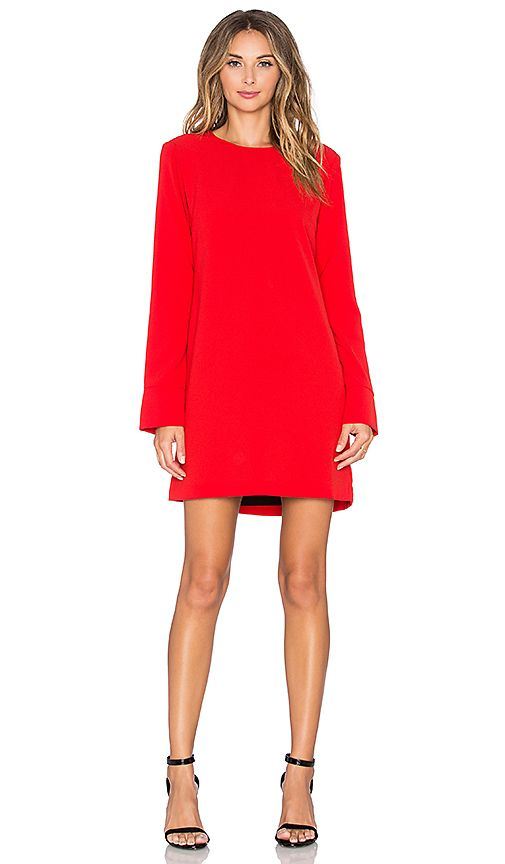 bdef159357 Shop for WAYF Cutout Back Long Sleeve Dress in Red at REVOLVE. Free 2-3 day  shipping and returns, 30 day price match guarantee.