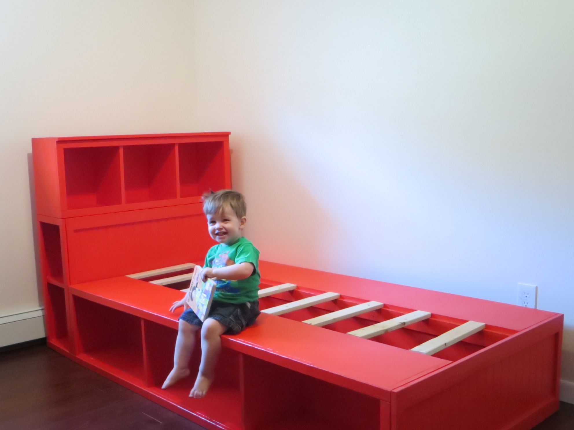 Charlieu0027s Big Kid Bed - DIY Projects & diy storage bed with headboard free plans from ana-white.com | Kids ...