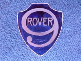 ROVER radiator emblem / badge     Dimensions ca. 5.6 cm x 4.9 cm  Year 1924  Estimate        The British ROVER started car production in 1...