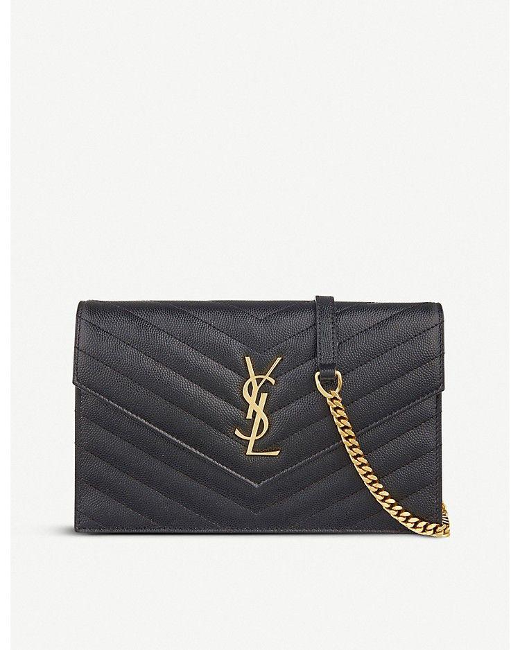 7720c372c6b86 SAINT LAURENT - Monogram leather cross-body bag