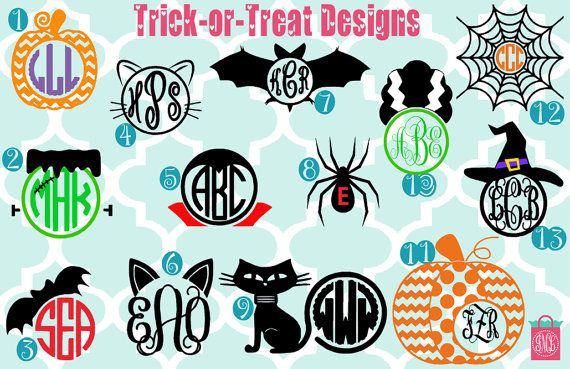 Fall Decal Pumpkin Monogram Iron On Halloween Monogram Iron On Shirt Gift Web Monogram Decal Bat Monogram Iron On Owl Monogram Iron On