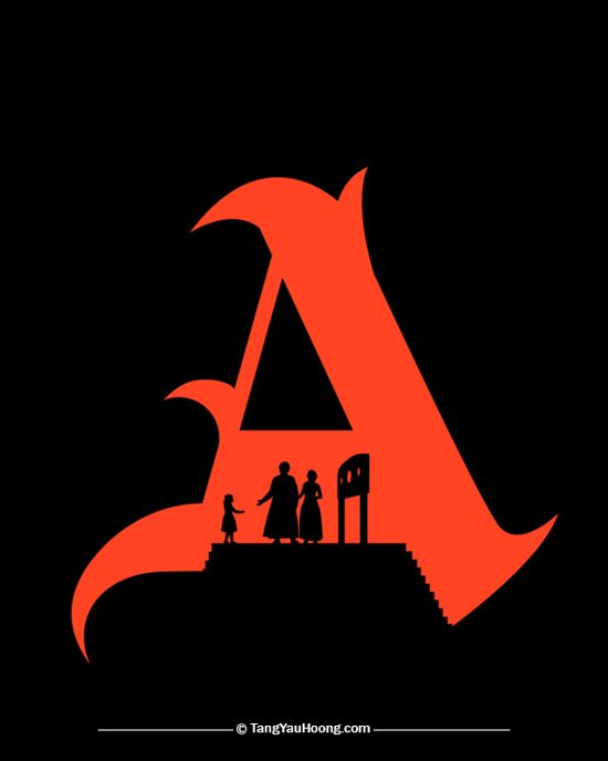 the scarlet letter a the art of negative space