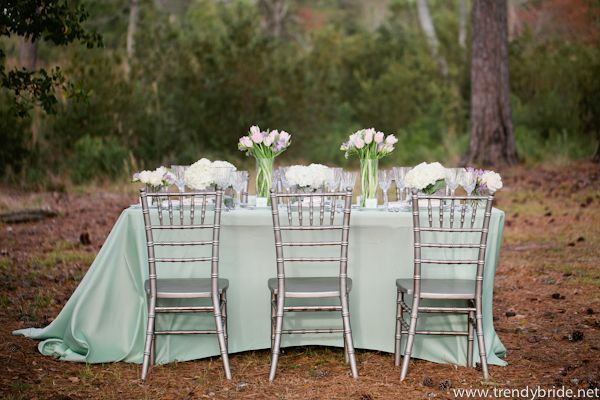 Mint And Grey Wedding