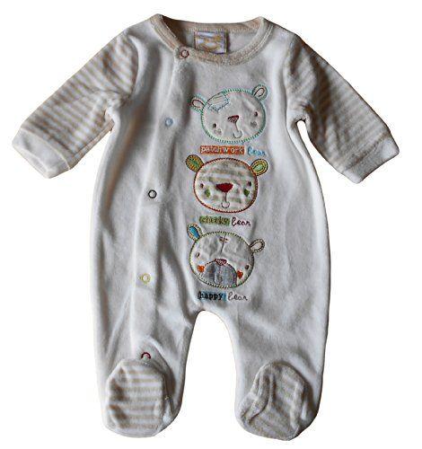 Newborn nb months - Baby Boys Sleepsuit Babygrow - Gorgeous Velour Cream Light Brown Bears / Babies Clothes Rockabye-Baby http://www.amazon.co.uk/dp/B00KSLB8X4/ref=cm_sw_r_pi_dp_KjH9tb06J2298