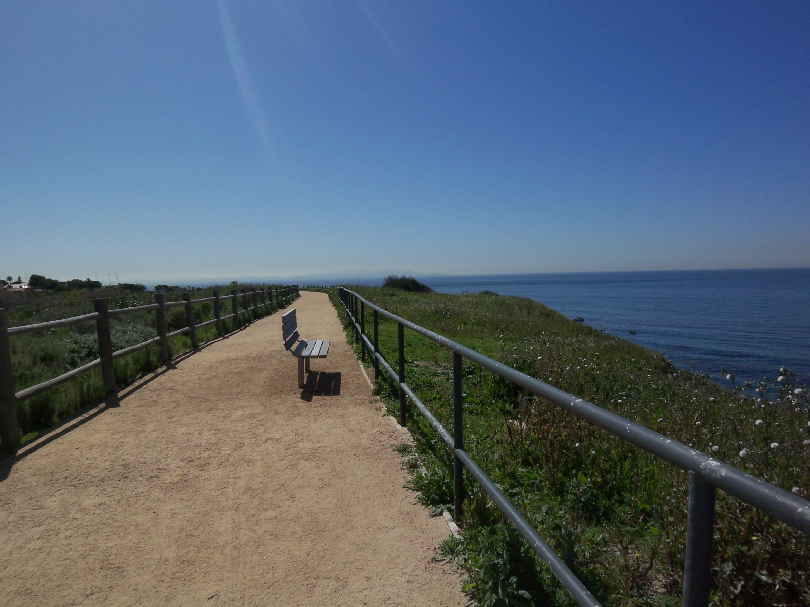 Oceanfront, a beautiful tract of homes has a path on the bluff that is the perfect place for early evening walks.