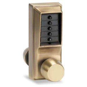 Lock Combination By Kaba 509 60 Mechanical Pushbutton Combination Lock Latch Length 1 2 Inch Finish Antique Brass Standar Antique Brass Metal Door Brass