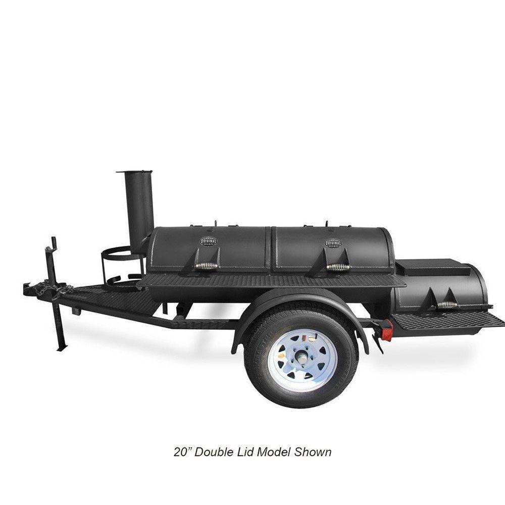 Portable luling smoker trailer mounted