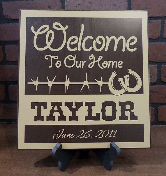 Personalized Western Welcome Sign, Custom Name Western