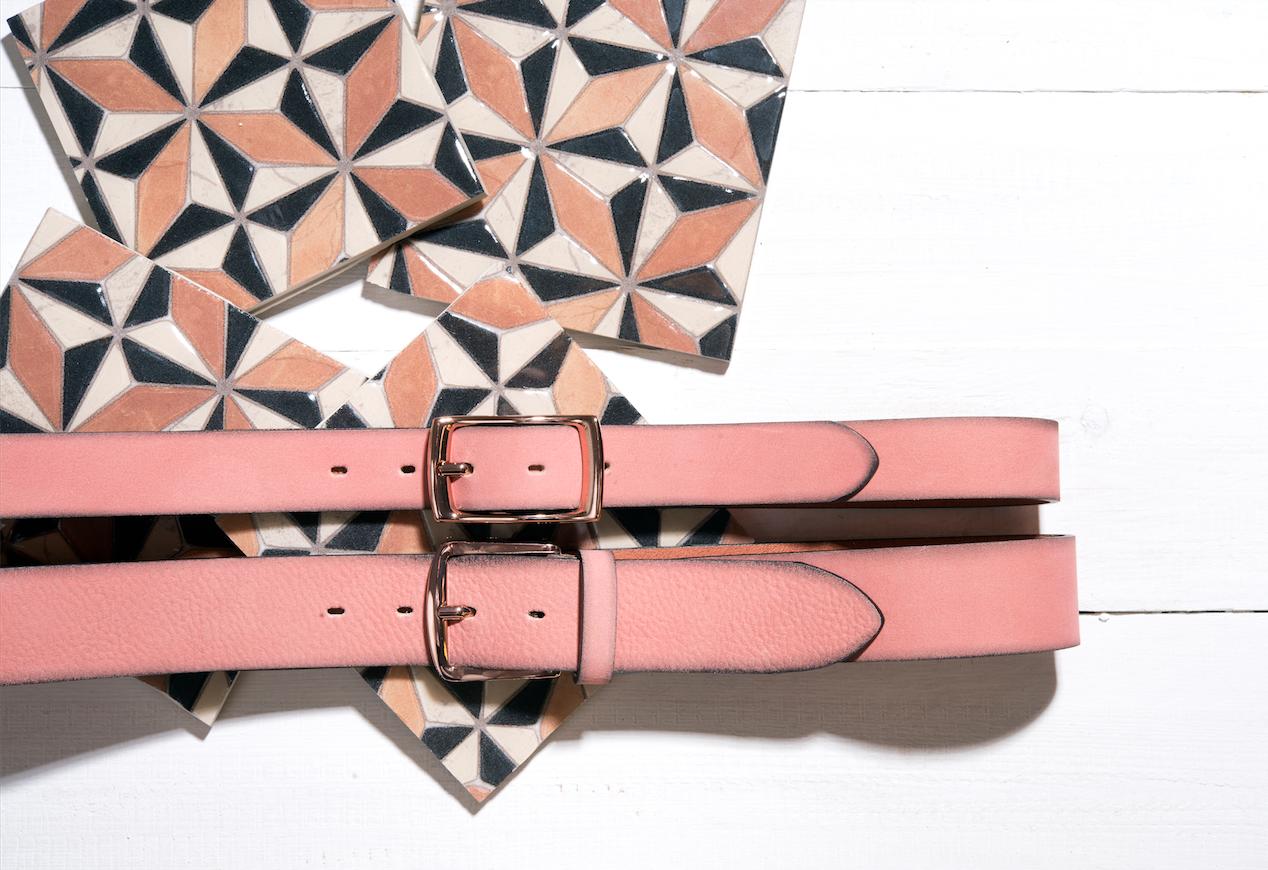 Buckles & Belts - Belt/Gürtel - New Summer Collection 2016 - Torean - Nubuk-Leather - pink - Design in SWITZERLAND made in ITALY https://www.facebook.com/BucklesBelts